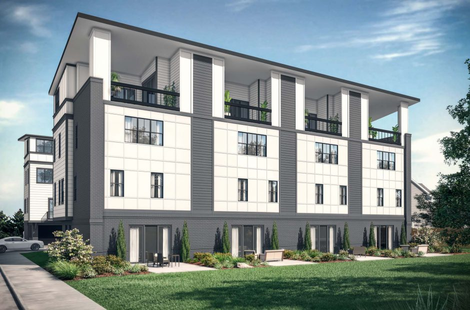 Isabella Townhomes exterior elevation