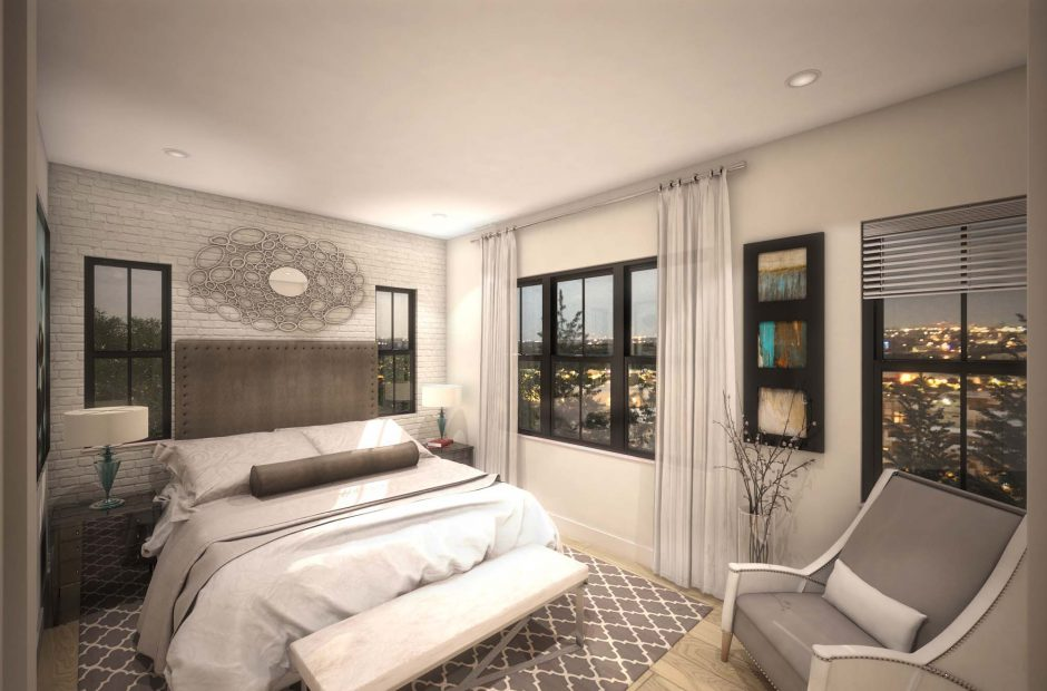 Townhome interior bedroom